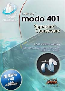 3D Garage.com Ships New Luxology modo 401 Training DVD for 3D Modeling and Animation