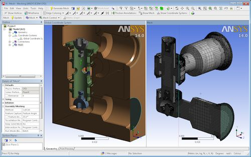 ANSYS 14 assembly mesh