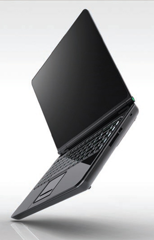 This is a laptop design study from Design Edge rendered in HyperShot.