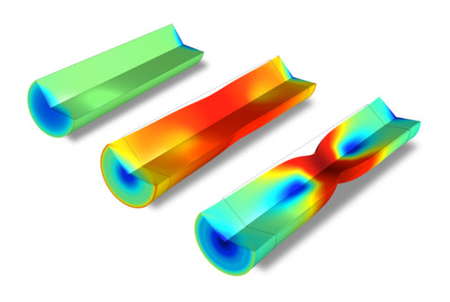COMSOL Multiphysics tensile test