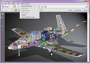 Convert CAD Data into Interactive 3D PDFs