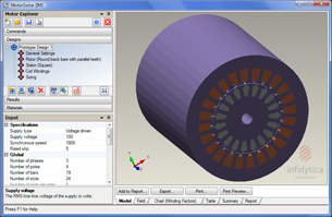 FEA Predicts Rotating Electronic Machine Performance