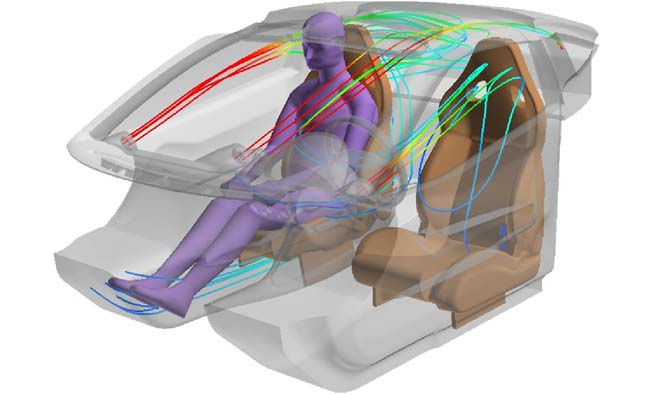Ferrari Optimizes Thermal Comfort Using ANSYS