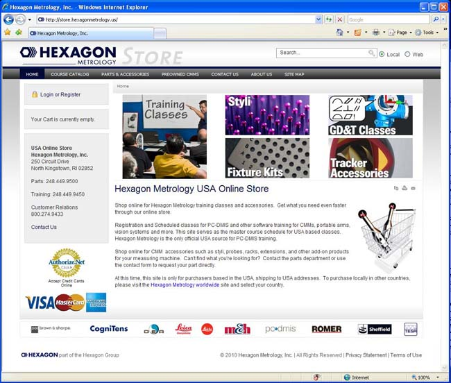 Hexagon Metrology USA Launches Online Store