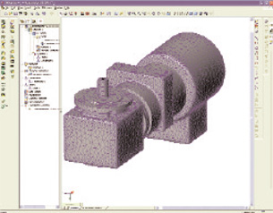 This motor model was meshed with NEiFusion using smart meshing that recognizes features for easy editing.