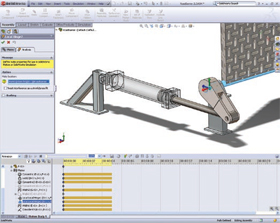 Motion simulation results from SolidWorks Motion provide data such as joint reactions and inertial forces; just the inputs needed for structural analysis that can be completed in SolidWorks Premium.