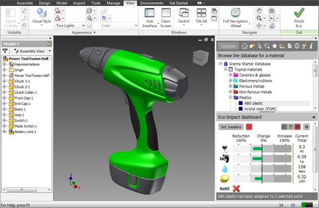 Sustainable Tool from Granta Featured in Autodesk Inventor 2012 Software