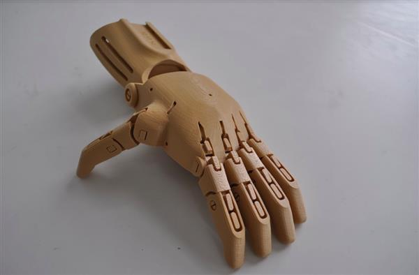 As part of the global hand drive, 22,000 individual hand parts were assembled. Image Courtesy of Autodesk