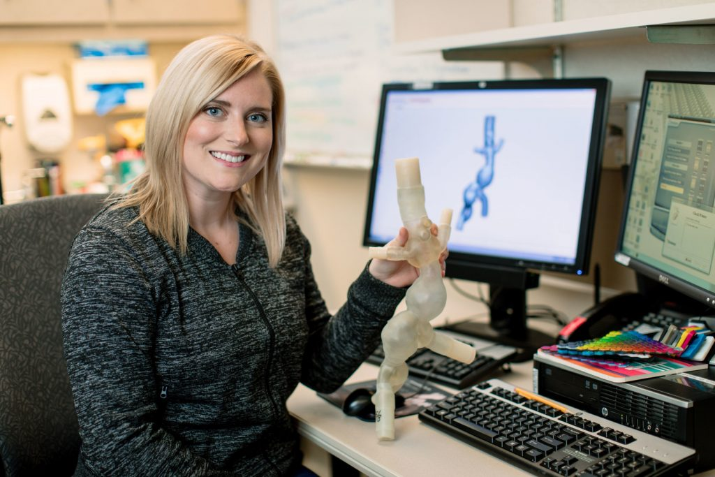 Amy Alexander of the Mayo Clinic's Department of Radiology's Anatomic Modeling Lab will discuss how point-of-care manufacturing affects more patients with 3D printing. Image courtesy of SME.