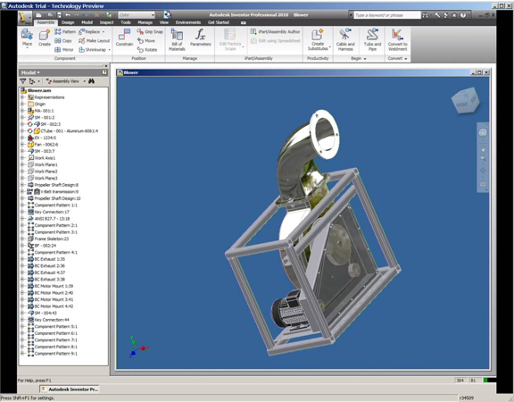 Running Autodesk Inventor from a standard browser, made possible in Project Twitch, now live in Autodesk Labs.