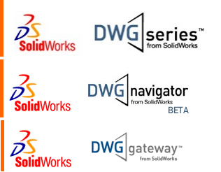 Is SolidWorks infringing on Autodesk's DWG trademark with these logos? That was one of the issues a jury would have deliberated if the two sides hadn't settled their case.