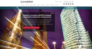 Camstar's website announcing the pending acquisition by Siemens PLM Software.