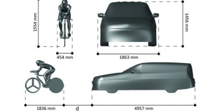 The 3D model of a cyclist was based on a scan of a cycling champion. The vehicle model was purchased online.