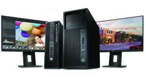 The new HP Z240 entry-level workstation, shown here in small form factor and regular desktop editions (image courtesy of HP).