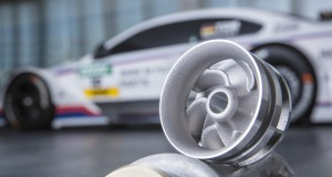 BMW's 3D-printed water pump, built from an aluminum alloy powder. Image courtesy of BMW.