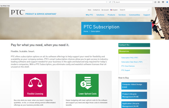 PTC begins offering subscription for its entire portfolio.