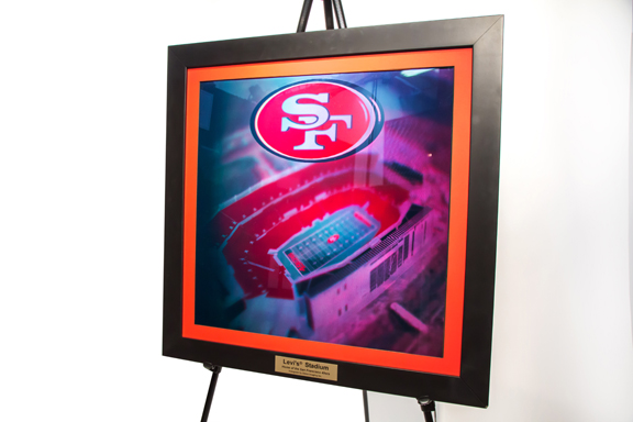 Zebra Imaging, based in Austin, Texas, offers hologram prints. Shown here is the hologram of a sports stadium. (Image courtesy of Zebra Imaging.)