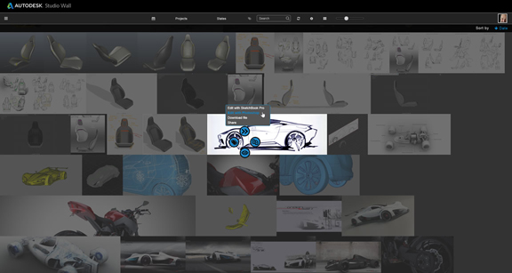 visual data management in Autodesk Studio Wall