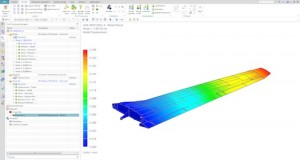 Structural analysis of an aircraft wing assembly performed in Simcenter 3D. Image Courtesy of Siemens PLM Software
