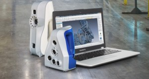 Artec 3D scanners: The previous generation Eva (taller one on the left) and the latest generation Space Spider (blue-coated on the right). Photo courtesy of Artec 3D.