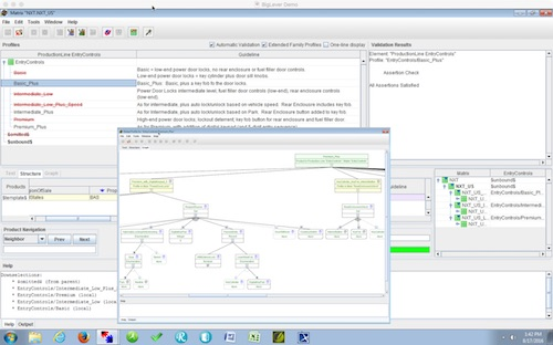 "The Gears Matrix Wizard can be used to create a ""Feature Catalog"" and define ""Bill of Features"" to automate the production of an entire product line across the full lifecycle. Image Courtesy of BigLever Software"