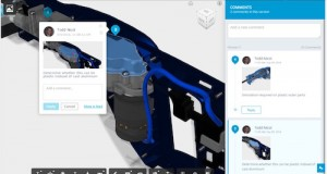 Autodesk's new cloud PDM capabilities support real-time design reviews and viewing and markup of 3D files. Image Courtesy of Autodesk