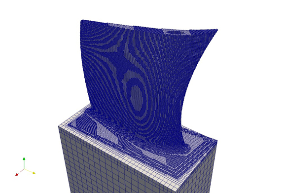 Simulating a 3D print job in Autodesk Netfabb. (Image courtesy of Autodesk)
