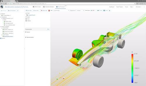 SimScale's cloud-based approach means users can access CAE capabilities from a browser on devices such as tablets and smartphones. Image Courtesy of SimScale