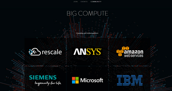 Rescale launches Big Compute community with partners at Rescale Night in January 2017. The company hopes to capture the on-demand HPC market with specialized architecture and workflow management software stack.