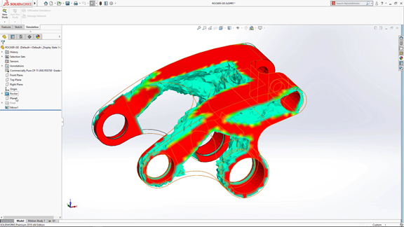 Optimization features will become part of SOLIDWORKS and SOLIDWORKS Xdesign software (image courtesy of Solidworks).