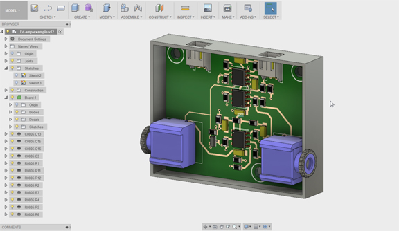 Fusion 360 Aug 2017 update PCB modeling_editing - Virtual