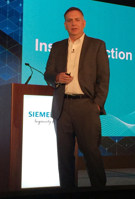 """Our biggest challenge is customer inertia,"" said Siemens President and CEO Tony Hemmelgarn."