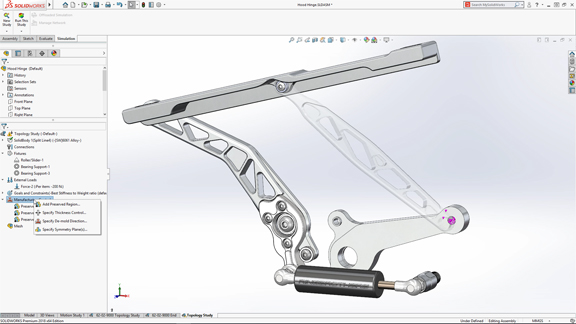 SolidWorks 2018 arrives with touch interface, topology optimization