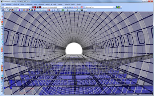 HyperSizer performs detailed sizing and stress analysis of the internal structure of composite or metal aircraft (skins, stringers, ring frames, floor beams, etc.). Image Courtesy of Collier Research