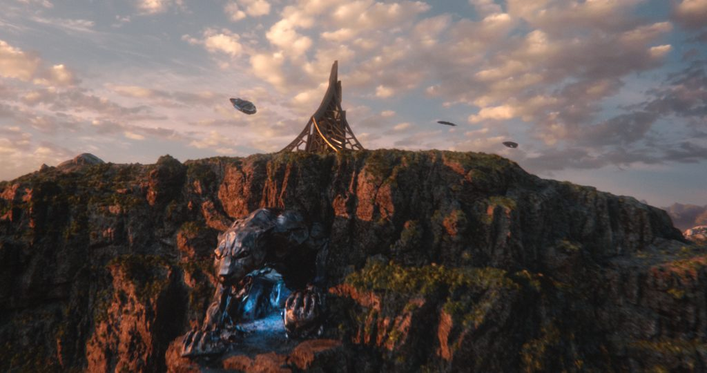 In the Black Panther movie, the mythical African nation of Wakanda sits atop a huge reserve of vibranium. Image courtesy of Marvel.
