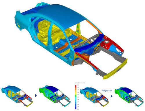 Simulia TOSCA FEA simulation