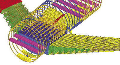 Fig. 2: Model of an aircraft fuselage. Image courtesy of Altair.