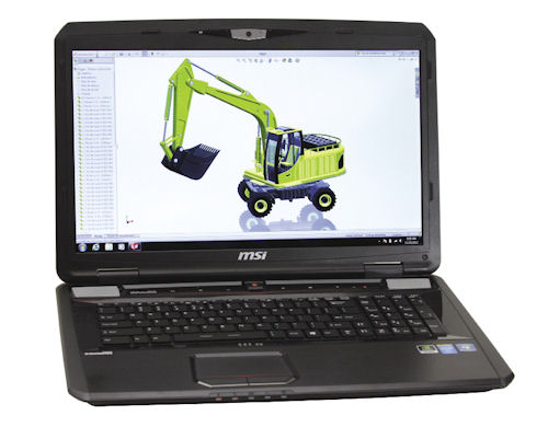 Micro-Star International's GT70-2OL mobile workstation.