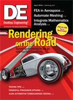 Desktop Engineering, April 2014 Digital Edition: Rendering on the Road