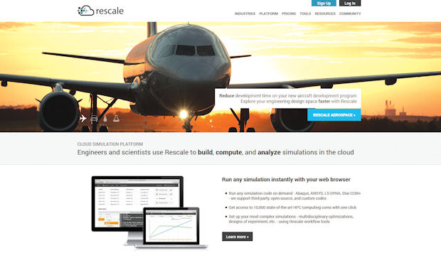 Rescale created a software-hardware-middleware combo to run simulation.
