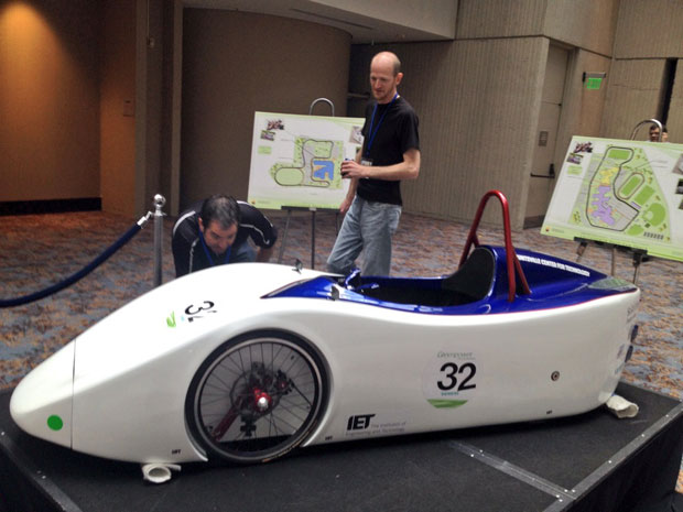 Team USA's entry into the Greenpower UK student electric car race.
