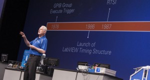 NI co-founder Dr. Jim Trouchard discusses the origins of LabVIEW's timing structure at NIWeek 2014.