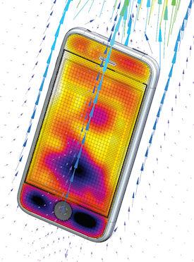 Mentor Phone Heat simulation