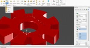 CorelCAD 2015 Solid Modeling 3D Gear