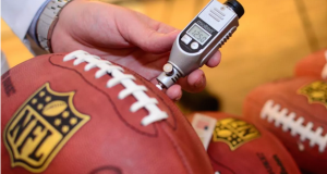 Tests show weather may have been to blame for New England Patriots' deflated football controversy. Image courtesy of HeadSmart Labs.
