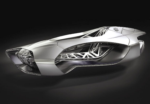 The Genesis concept vehicle is designed to be manufactured as one singular part.