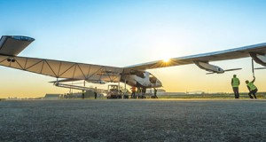Solar Impulse 2 preparing for flight. Image courtesy of Solar Impulse.