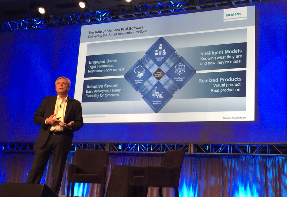 Siemens PLM Software President and CEO Chuck Grindstaff opens the 2015 Siemens PLM Connection Americas User Conference.