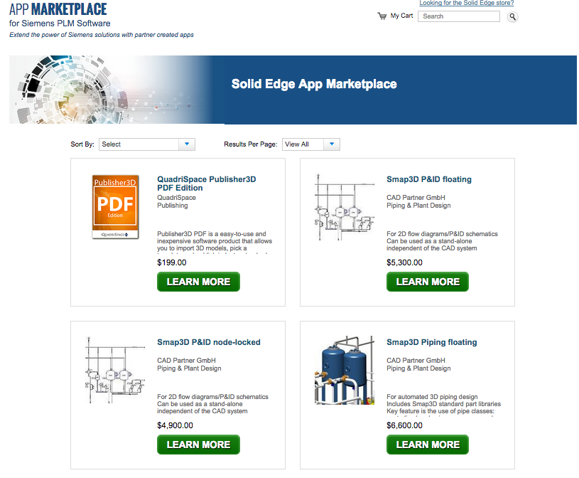 Siemens PLM Software's new Solid Edge App Marketplace.