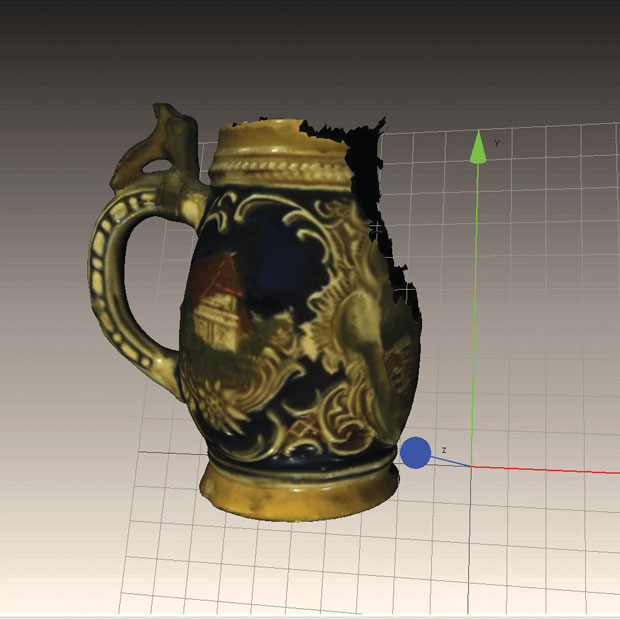 My first scan had some major problems as I climbed the 3D scanning learning curve.